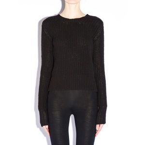 RICK OWENS FW14 MOODY BIKER LUPETTO BLACK SWEATER